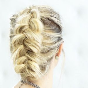 Messy Faux Hawk Dutch Braid